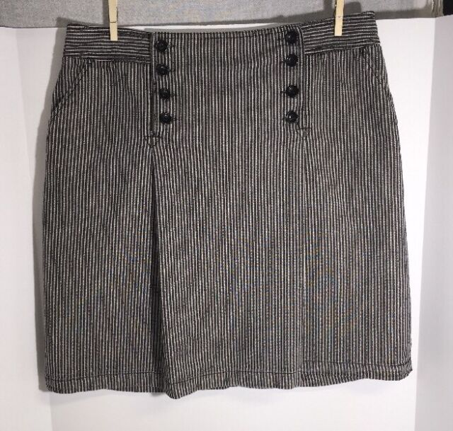 Cute RockaBilly Railroad Stripped Button Front Skirt by LARRY LEVINE size 16