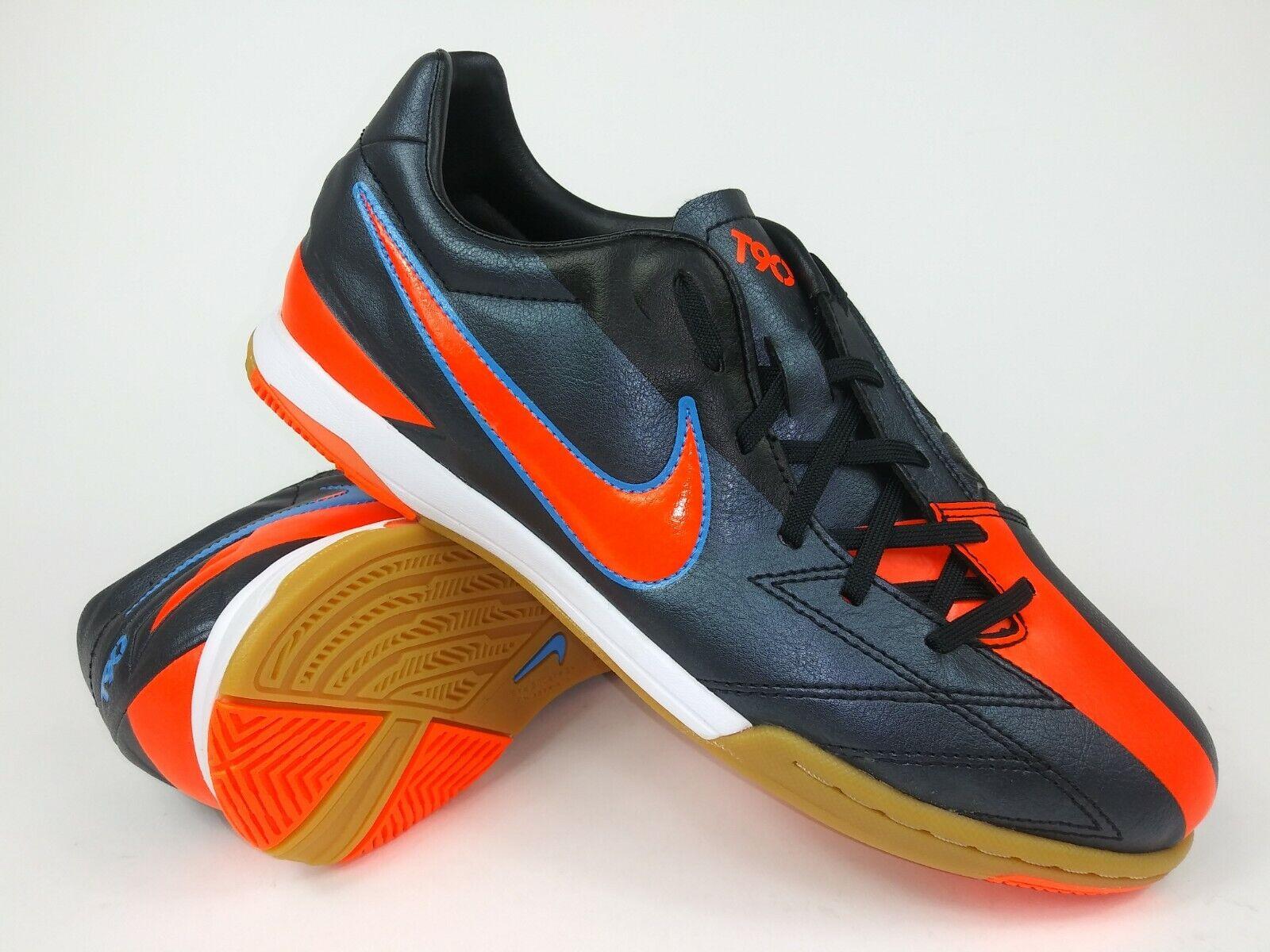Nike Hombre Raro T90 Shoot IV IC 472558-084 Naranja Negro Interior Zapatos Talla 8.5