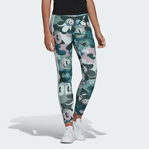 Details about adidas Originals Womens 3 Stripes Tights Multicolor Active Wear DV2663