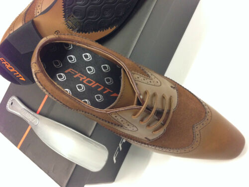 Mens Leather Tan Brown Brogues Two Tone perfect with tweed /'Free shoe horn/'