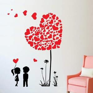 Wall Stickers Romantic Love Hearts Mirror Stickers Decals DIY Home Room Decor TO