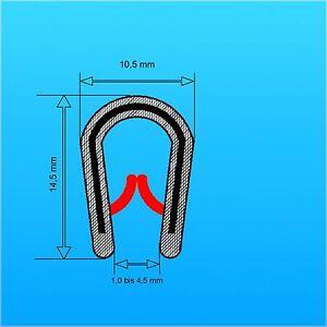 Kantenschutzprofil Klemmb. 1-4,5 mm Maße 10x14,5 mm KS Kederband 1,40 € /m