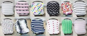 Image Is Loading Jersey Stretch Cover Car Seat Canopy Newborn Infant