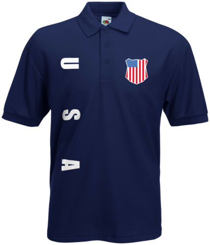 WM 2018 USA Polo-Shirt Trikot Name Nummer