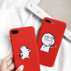 release date 15602 21d66 Details about 3D Funny Cartoon Phone Case For iPhone 6S 6 7 Plus 8Plus X XS  Cover Dancing Cat