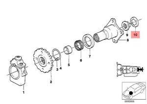 genuine bmw 114 e12 auto trans output shaft flange lock plate oem 1993 BMW 325I image is loading genuine bmw 114 e12 auto trans output shaft
