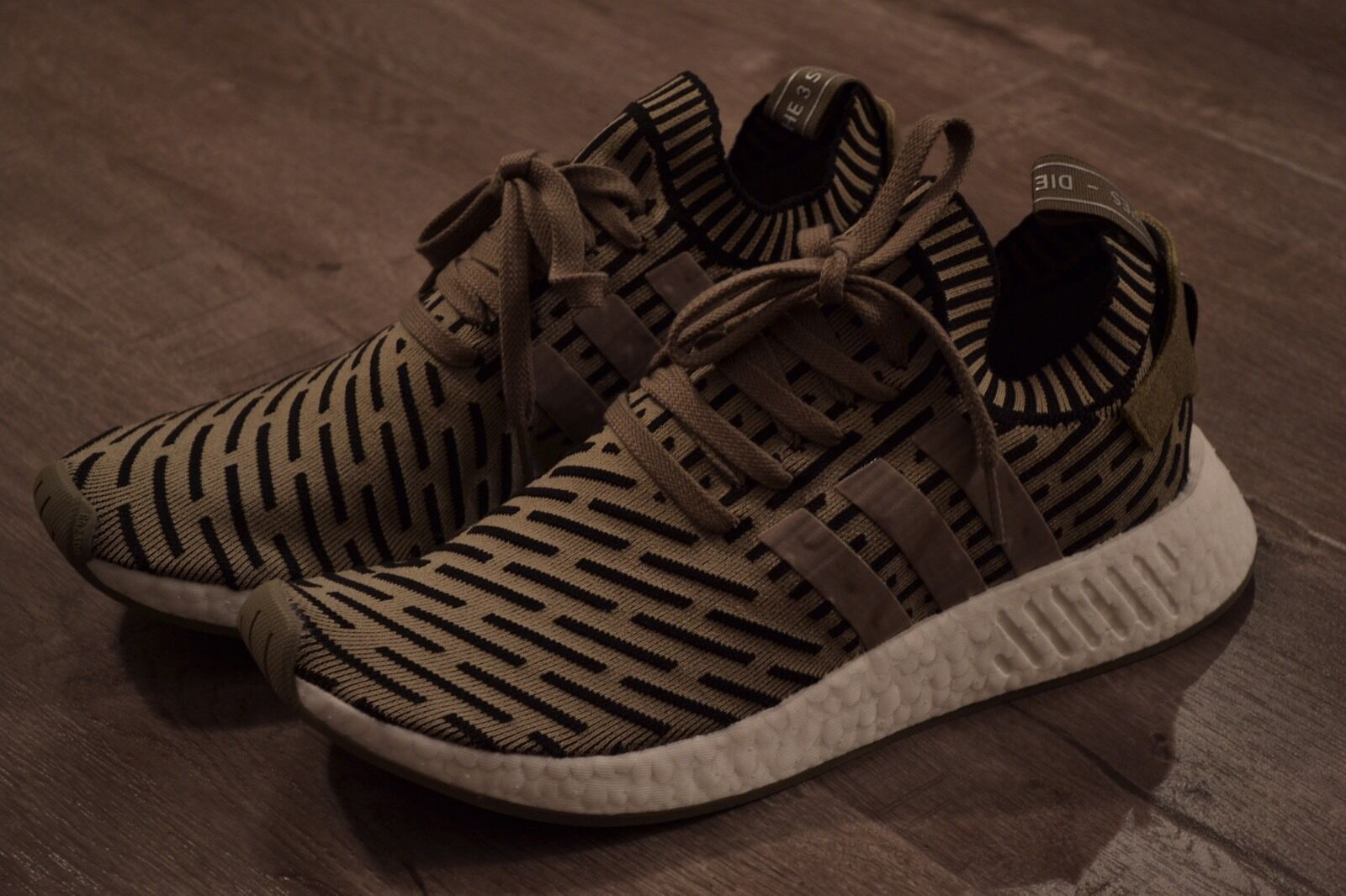 Adidas NMD R2 PK Trace Cargo Olive Green Primeknit FREE PRIORITY 2DAY! W RECEIPT