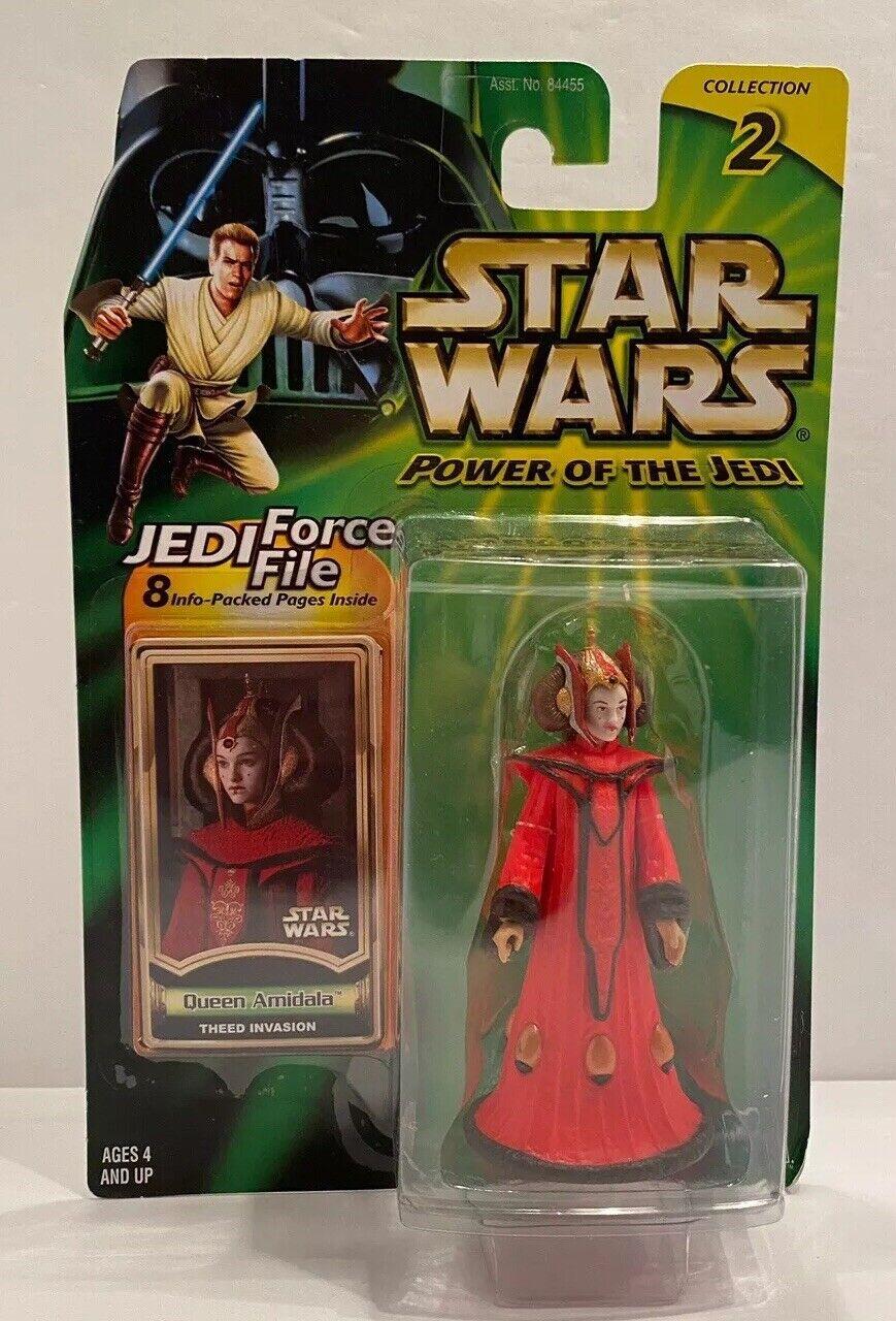 Star Wars Power of the Jedi Queen Amidala Theed Invasion Hasbro 2000