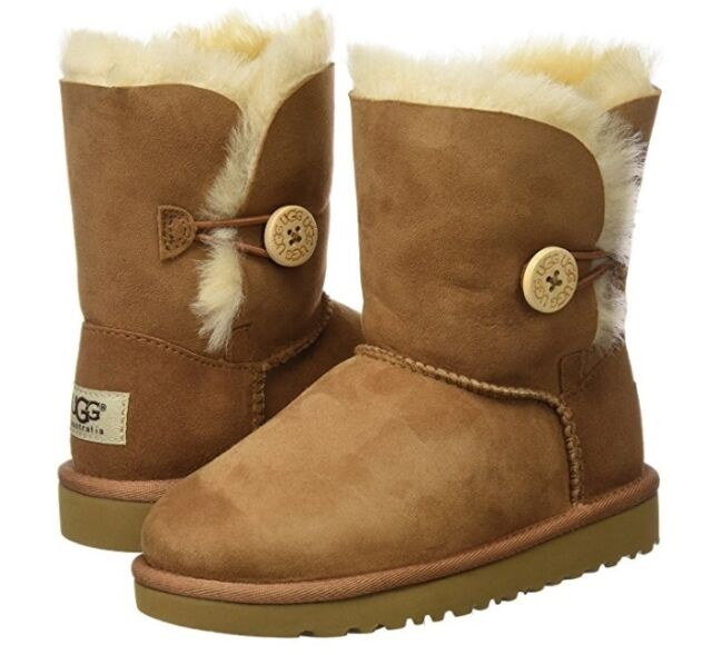 brown button uggs