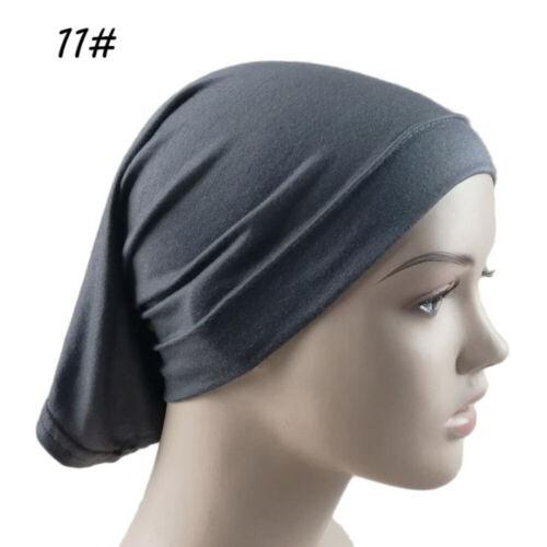 Unisex Headscarf Elastic Sweat Absorbent Cotton Turban Underscarf Hijab Tube Cap