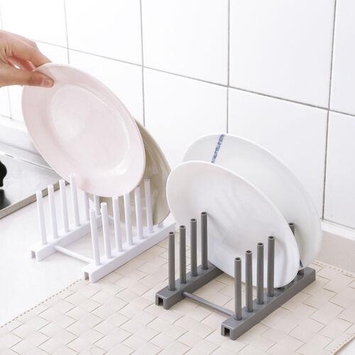 Kitchen Lid Pan Plate Organizer Dish Drainer Stand Shelf Racks Storage Holder