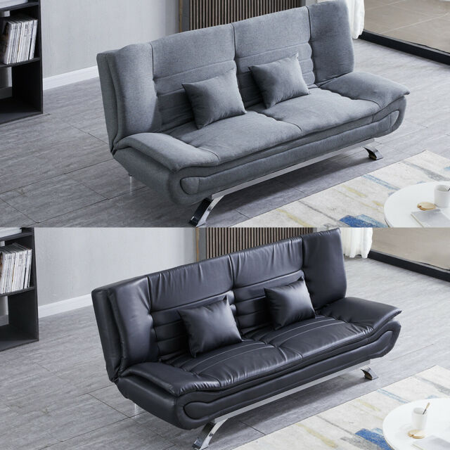 Awesome Upholstered Leather Fabric 3 Seater Sofa Bed Couch Settee Sofabed Sleeper Sofas Inzonedesignstudio Interior Chair Design Inzonedesignstudiocom