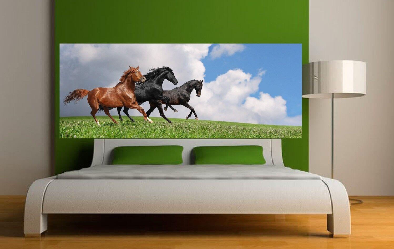 Papier Lackiert -kopf Bett Pferde 3635 Art Deco Aufkleber
