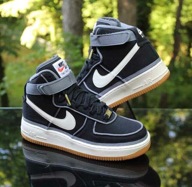 Nike Air Force 1 High LV8 GS Size 7Y Canvas Black Sail Gum 807617 001