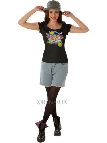 I Love The 90/'s Festival Peace Hippie Hippy Adult Ladies T-Shirt Sizes UK 8-18