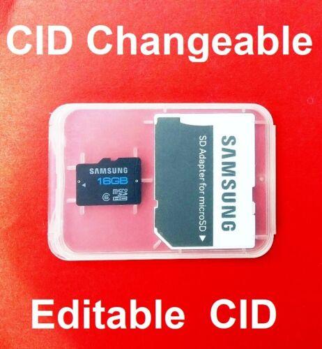 Micro SD Samsung 16GB CID modificabile Korea Navigatore Satellitare
