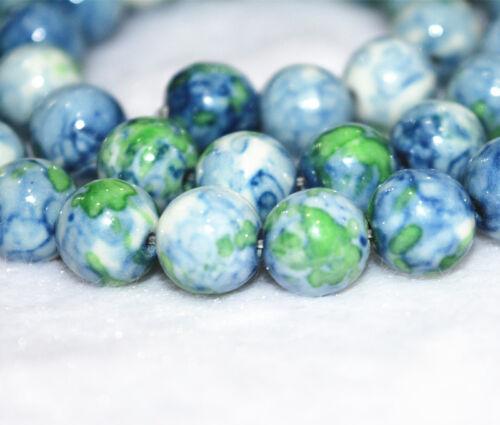 """Azul Multicolor Turquía Redondas de Piedras Preciosas de Color Turquesa suelto bolas 15/"""" nuevo 8mm"""