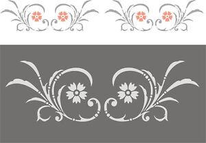 Wandschablone-Malschablone-Wandfries-Stupfschablone-Stencils-Dekor-Friesranke-2