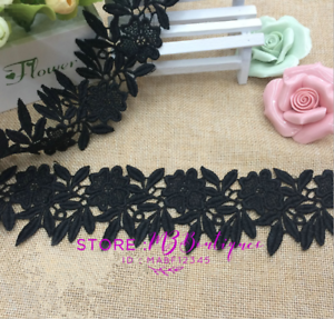 FP47-1-Yard-Lace-Trim-Ribbon-For-Wedding-Bridal-Dress-Embroidered-Sewing-Craft