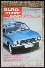 AMS Auto Motor Sport 19/70 Opel Manta BMW 2002 Turbo Opel Diplomat E