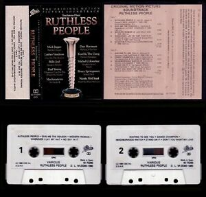 RUTHLESS-PEOPLE-SOUNDTRACK-SPAIN-CASSETTE-EPIC-1986-EXCELLENT-NEAR-MINT