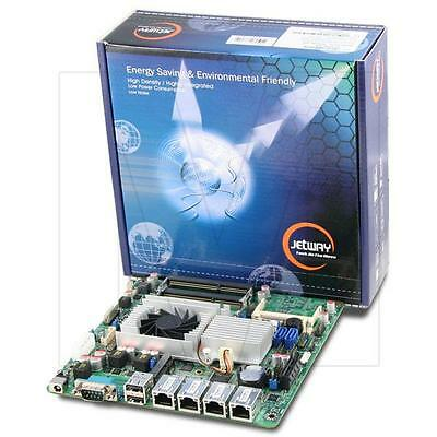 Jetway NF9HQL-525 Atom D525 Quad-LAN Thin Mini-ITX Motherboard, DC Power Onboard