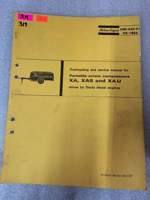 Atlas Copco Xa Xas Xau Screw Compressors Overhaul Service