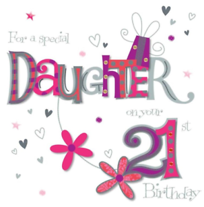 Image Is Loading 8 034 X8 Large Daughter 21st Birthday