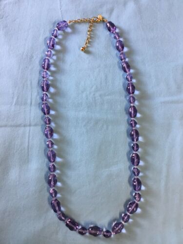 Vintage Joan Rivers Glass Bead Necklace.