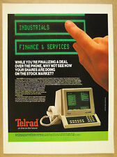 1985 Telrad Info/4000 Telephone Data Terminal touchscreen console vintage Ad