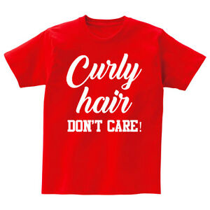 Ansaveh-034-Curly-Hair-034-Kids-Round-neck-Statement-Shirt-Choose-Any-Color