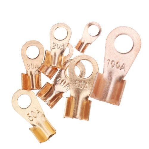 260x Kupfer Offener Draht Crimp Ring Ringkabelschuhe mit Aufbewahrungsbox