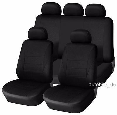 Premium Kunstleder Sitzbezüge Sitzbezug Schonbezüge für Lancia Ypsilon Grau Set