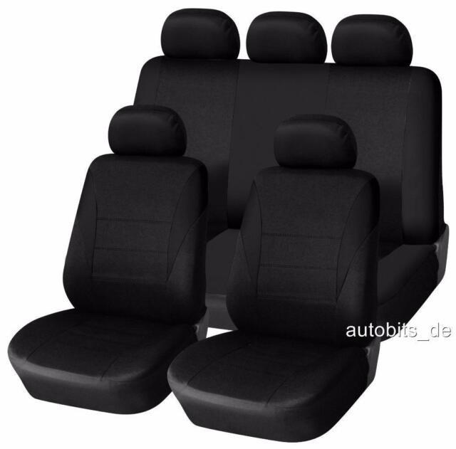 Kunstleder Sitzbezüge Sitzbezug Schonbezüge für Mitsubishi Lancer Grau Set
