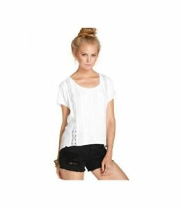 NWT-EYE-SHADOW-Women-039-s-White-Solid-Dolman-Sleeve-Top-Blouse-Tunic-Sz-L
