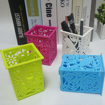 Creative Mutifunctional Office Desk Pen Pencil Holder Grid Pen Container Fashion