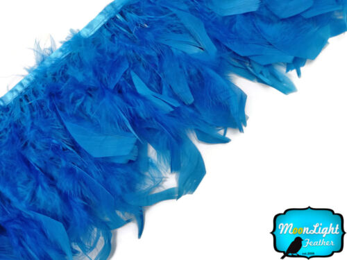 TURQUOISE BLUE Chandelle Feather Trim 1 Yard