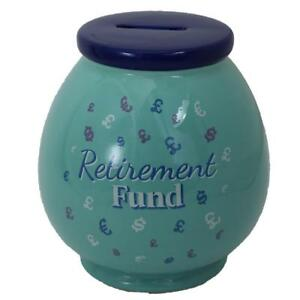 Blue-Ceramic-Money-Pot-Box-with-Wording-Retirement-Fund