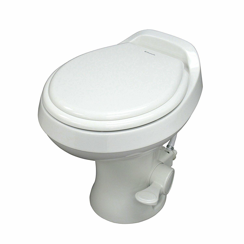 Slow Close Wood Seat Dometic 302310033 310 Series Standard Height Toilet 19.75 Bone
