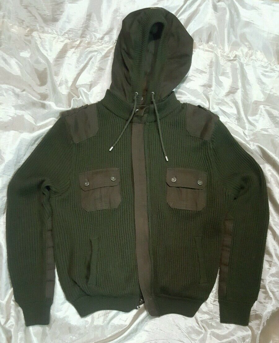 D&G dolce & gabbana maglione sweater Größe XL (veste L) lana-cotone wool-cotton