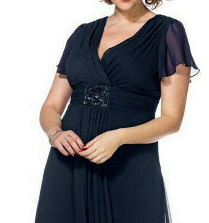 Sheego Eventkleid Abendkleid Kleid Gr. Gr. Gr. 42 bis 54 Blau Ton (725 blau) | Abgabepreis  | Angemessener Preis  a3be46