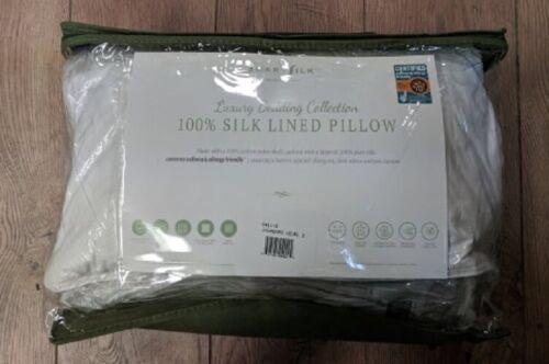 SmartSilk Luxury Bedding Collection 100/% Silk Lined Pillow Standard Level 2