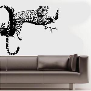 Cheetah Branch Vinyl Wall Decal Sticker African Exotic Safari Jungle Decoration