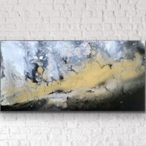 Large-ORIGINAL-HAND-PAINTED-ABSTRACT-By-Diane-Plant-100-x-50cm-BoxCanvas-Acrylic