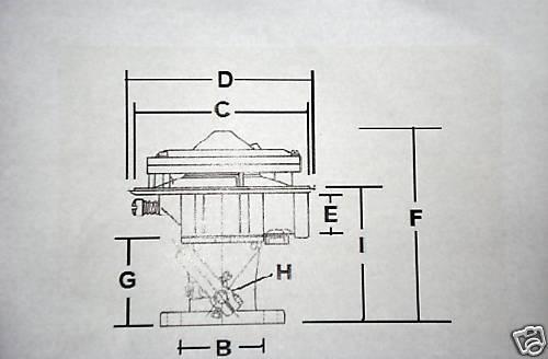 IMPCO LPG PROPANE CARBURETOR MIXER 225 FB225M
