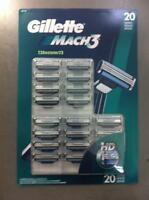 Gillette Mach 3 Refill Cartridges 20 AUTHENTIC NEW IN PACKAGE Personal Care