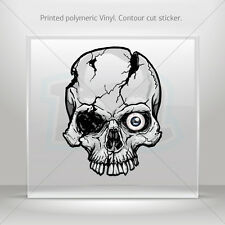 Sticker Decal Flames Skull Helmet Motorbike Bike vinyl bike st5 ZE54W