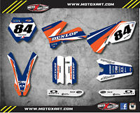 Ktm 85 Sx- 2002 - 2005 Full Custom Graphic Kit Force Style Decals / Stickers