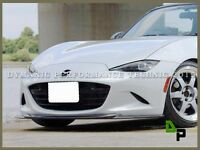 Carbon Gv Style Front Bumper Spoiler Lip For 15-16 Mazda Mx-5 Miata Nd Model