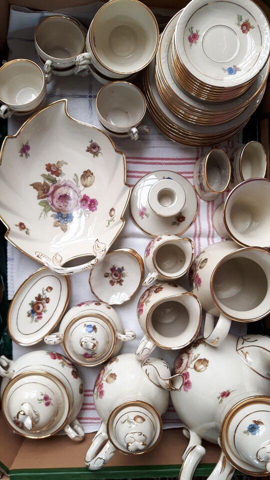 Porcelæn, Vase - Kande - Lågskåle - Kaffe - Mokka, KPM - Roser